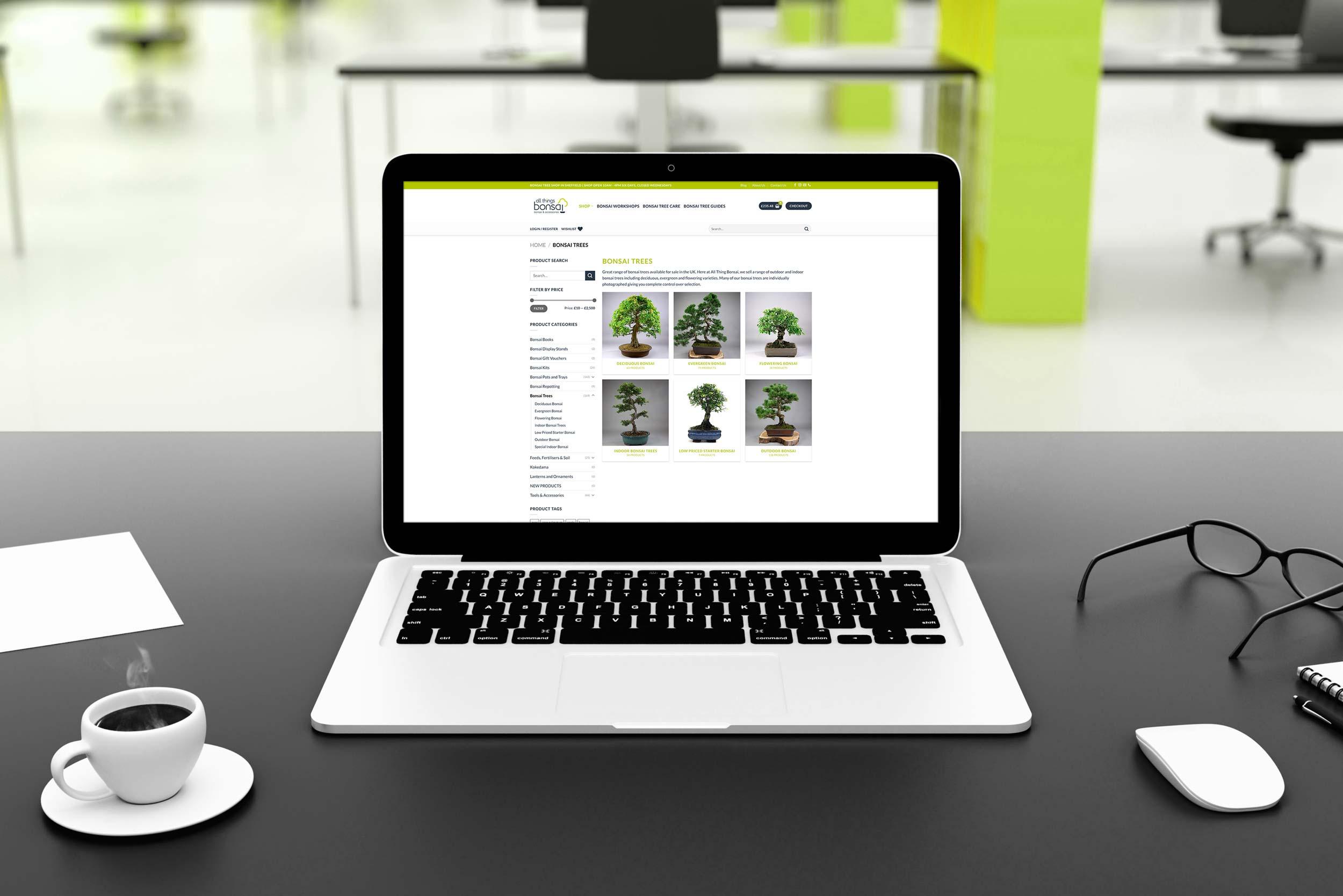 All Things Bonsai Website Designer IDEA DESIGN AGENCY Laptop 2