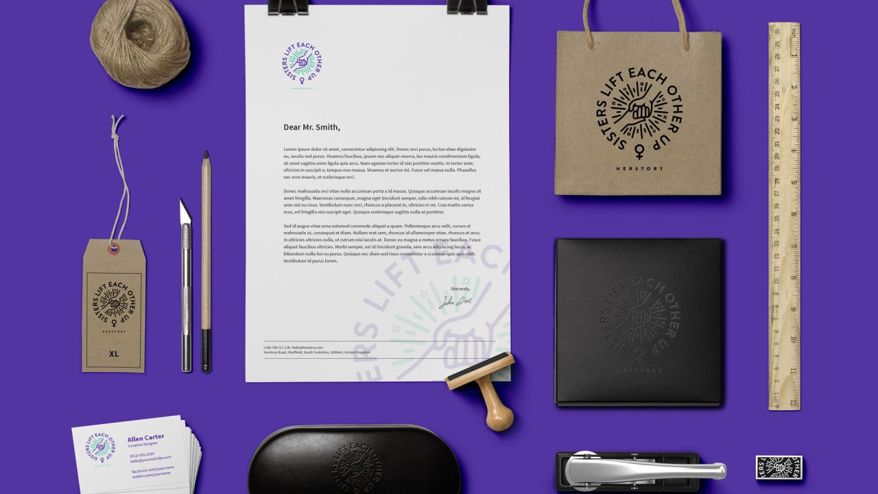 BRAND IDENTITY FLAT LAY IDEA DESIGN AGENCY