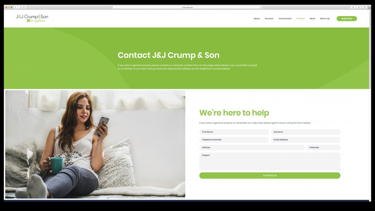JJ Crump Son Website Design IDEA DESIGN AGENCY 2