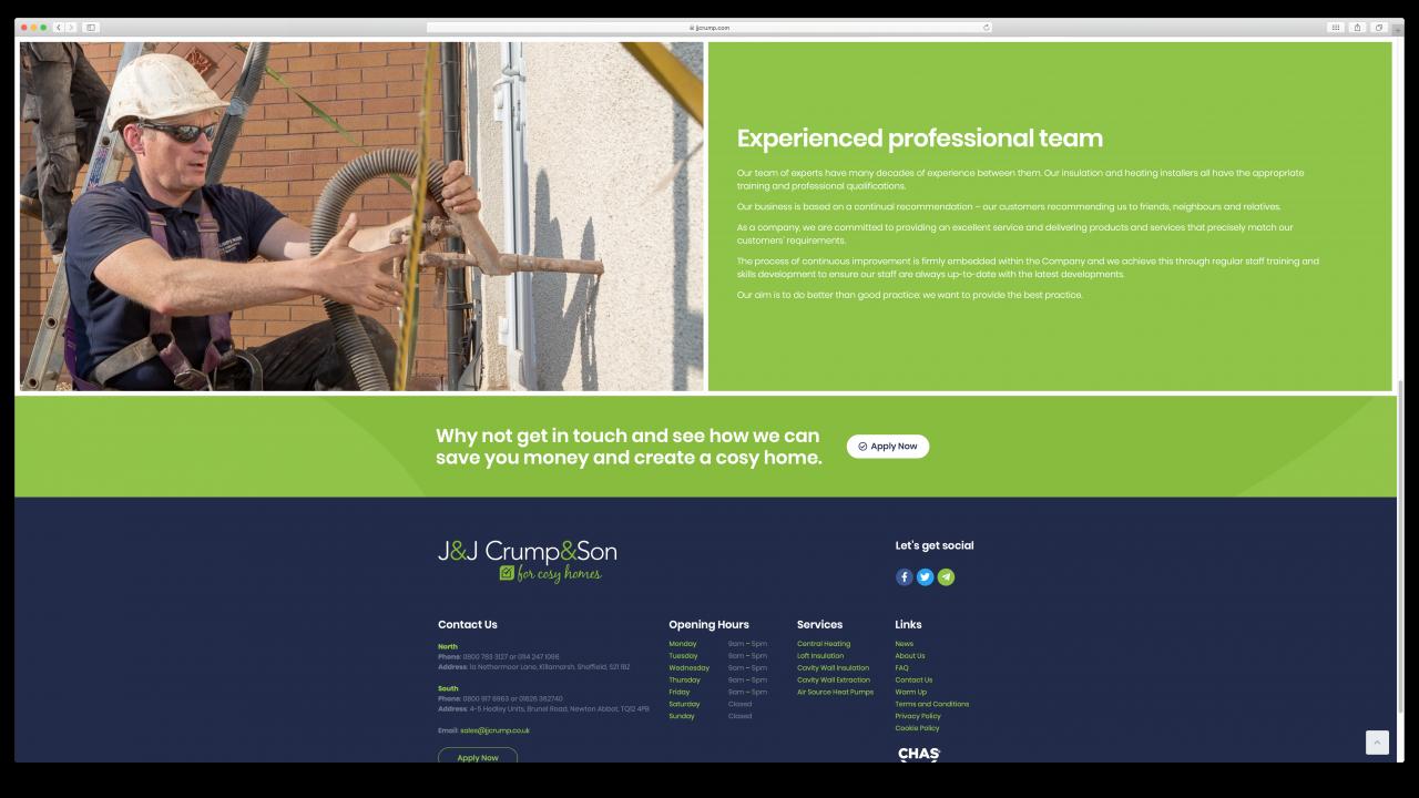 JJ Crump Son Website Design IDEA DESIGN AGENCY 3