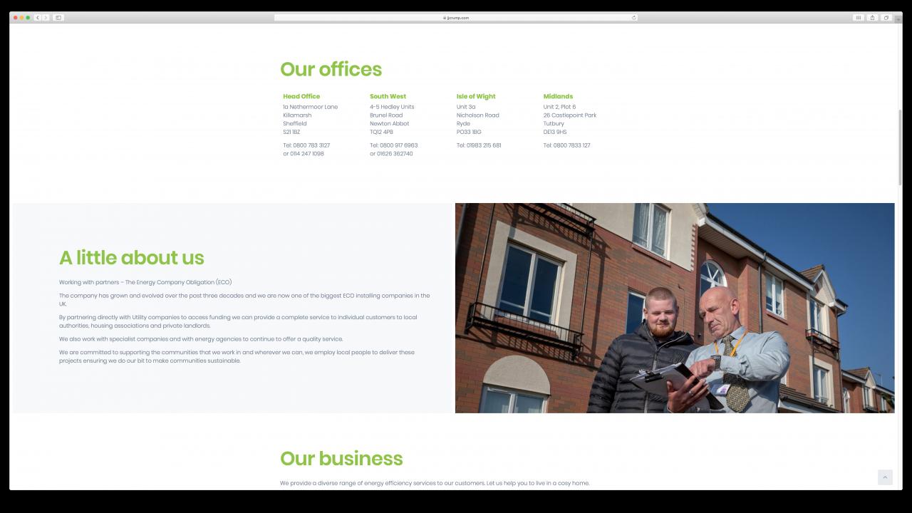 JJ Crump Son Website Design IDEA DESIGN AGENCY 4