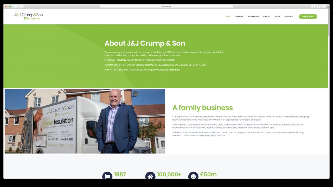 JJ Crump Son Website Design IDEA DESIGN AGENCY 5