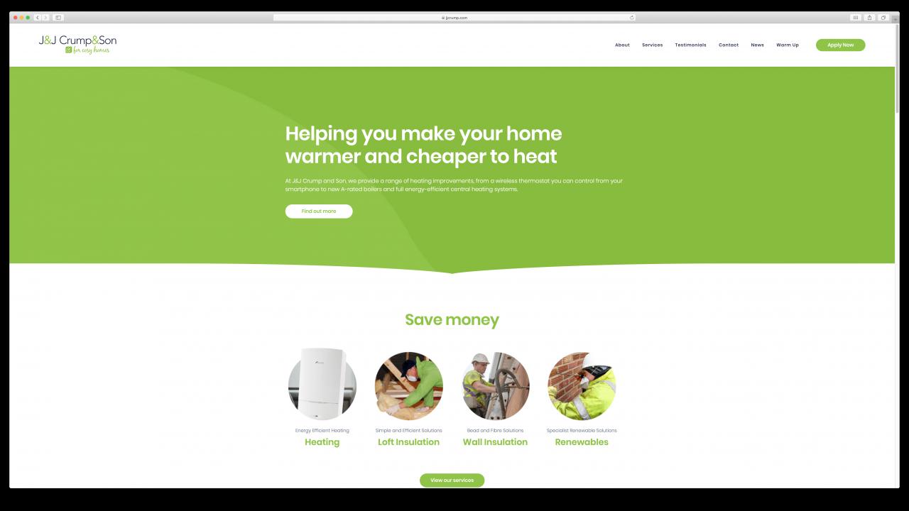JJ Crump Son Website Design IDEA DESIGN AGENCY 7