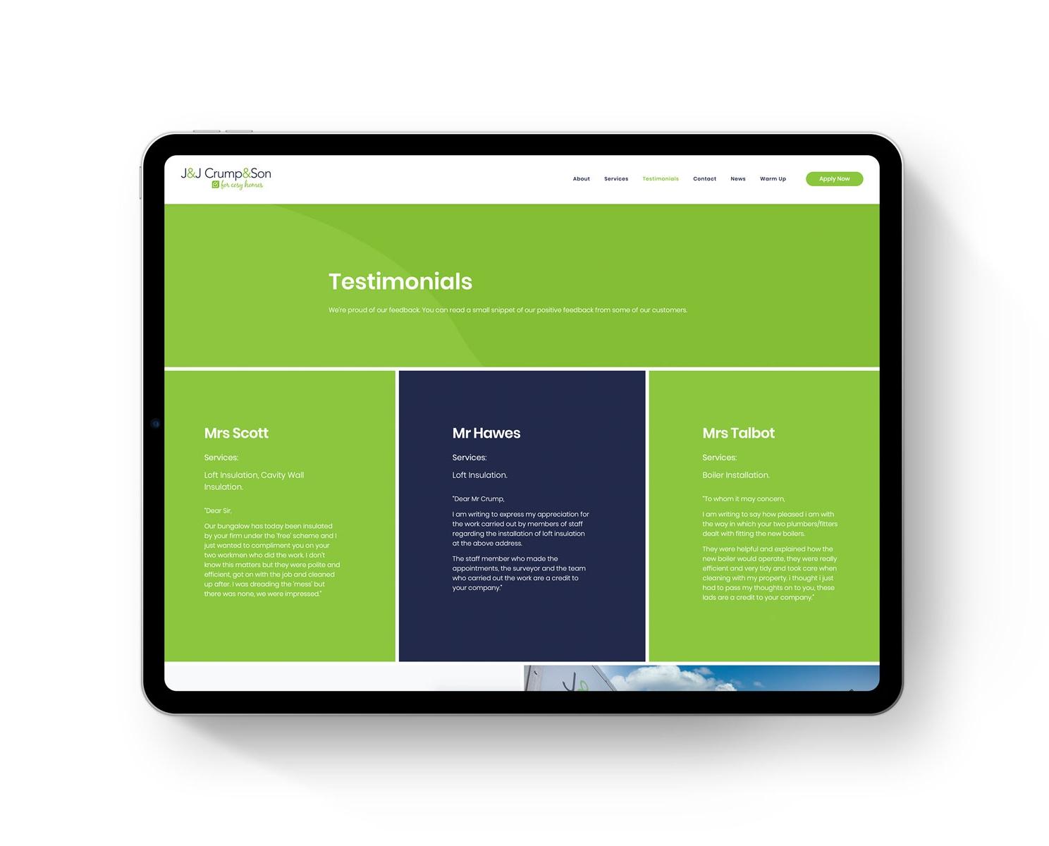 JJ Crump Son Website iPad Pro e1587134061902