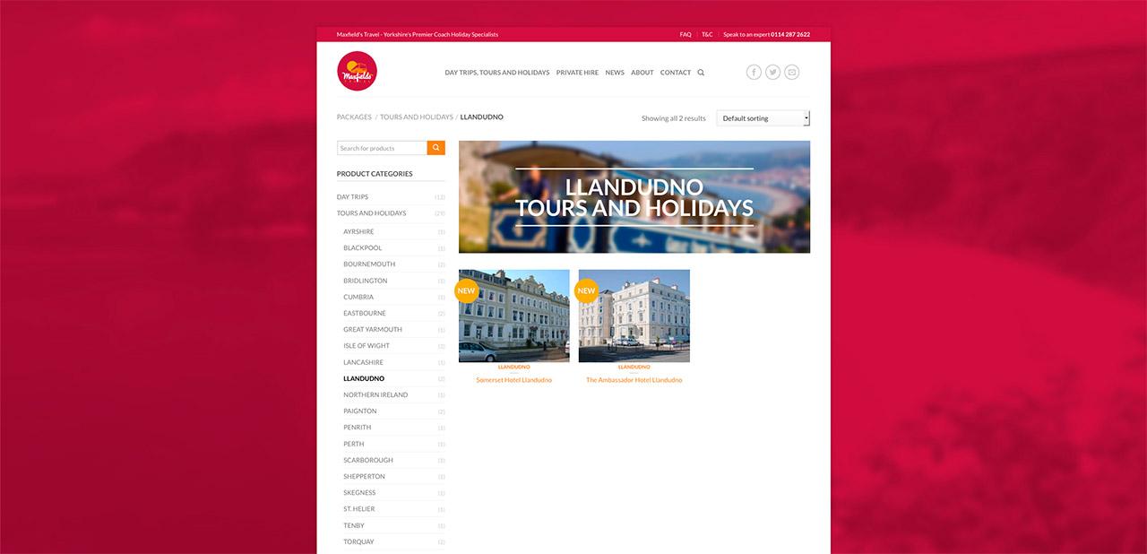 Maxfields Travel Website Design IDEA DESIGN AGENCY Website Designer 10