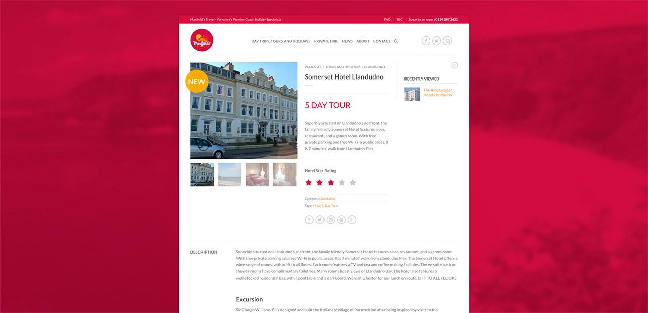 Maxfields Travel Website Design IDEA DESIGN AGENCY Website Designer 11
