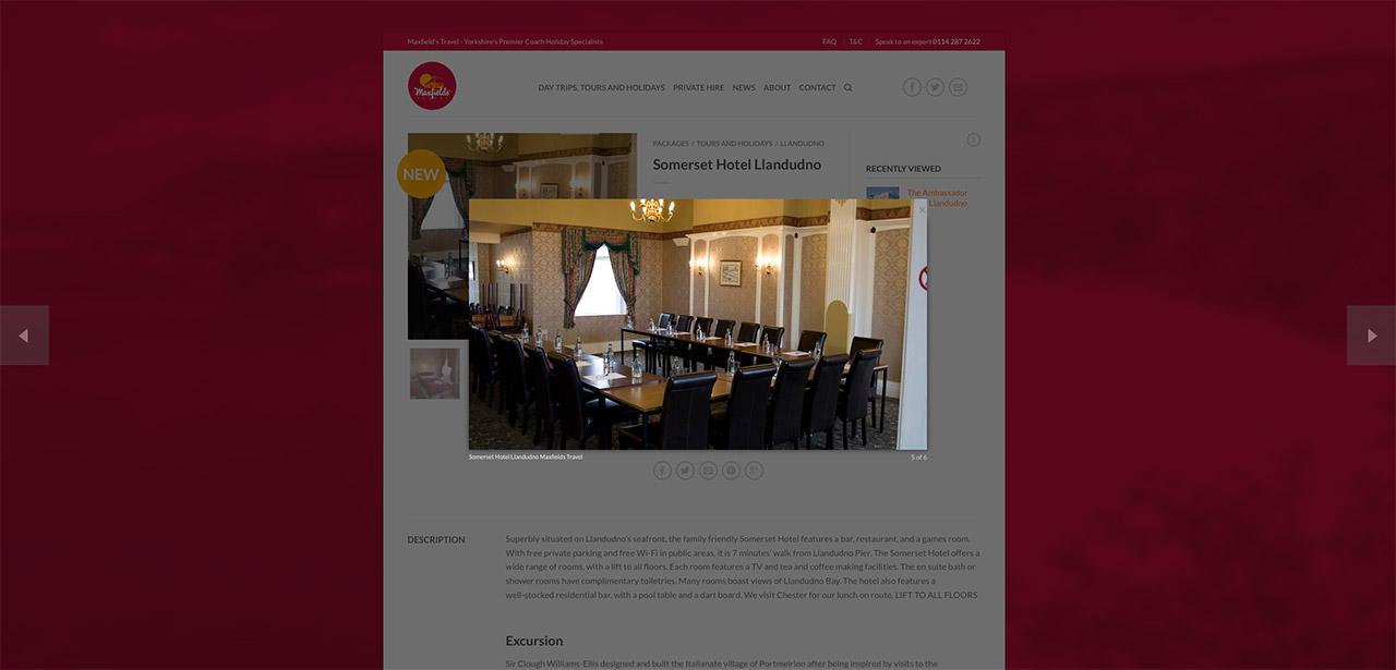 Maxfields Travel Website Design IDEA DESIGN AGENCY Website Designer 12