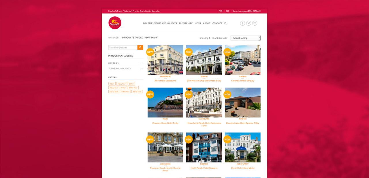 Maxfields Travel Website Design IDEA DESIGN AGENCY Website Designer 13