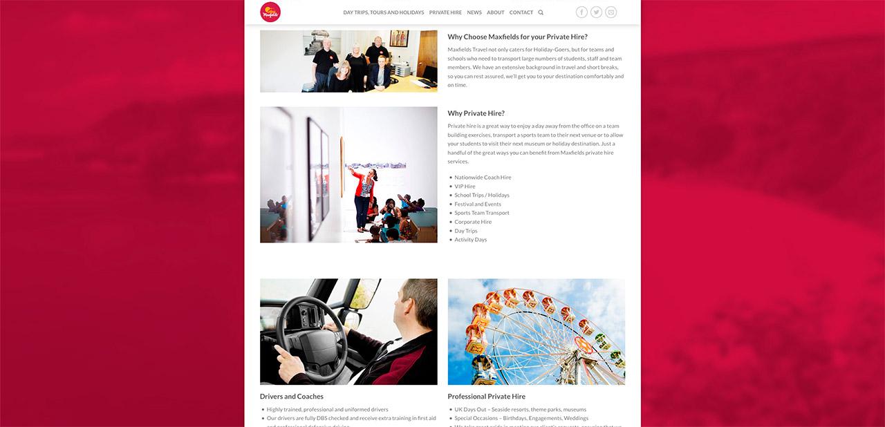 Maxfields Travel Website Design IDEA DESIGN AGENCY Website Designer 15