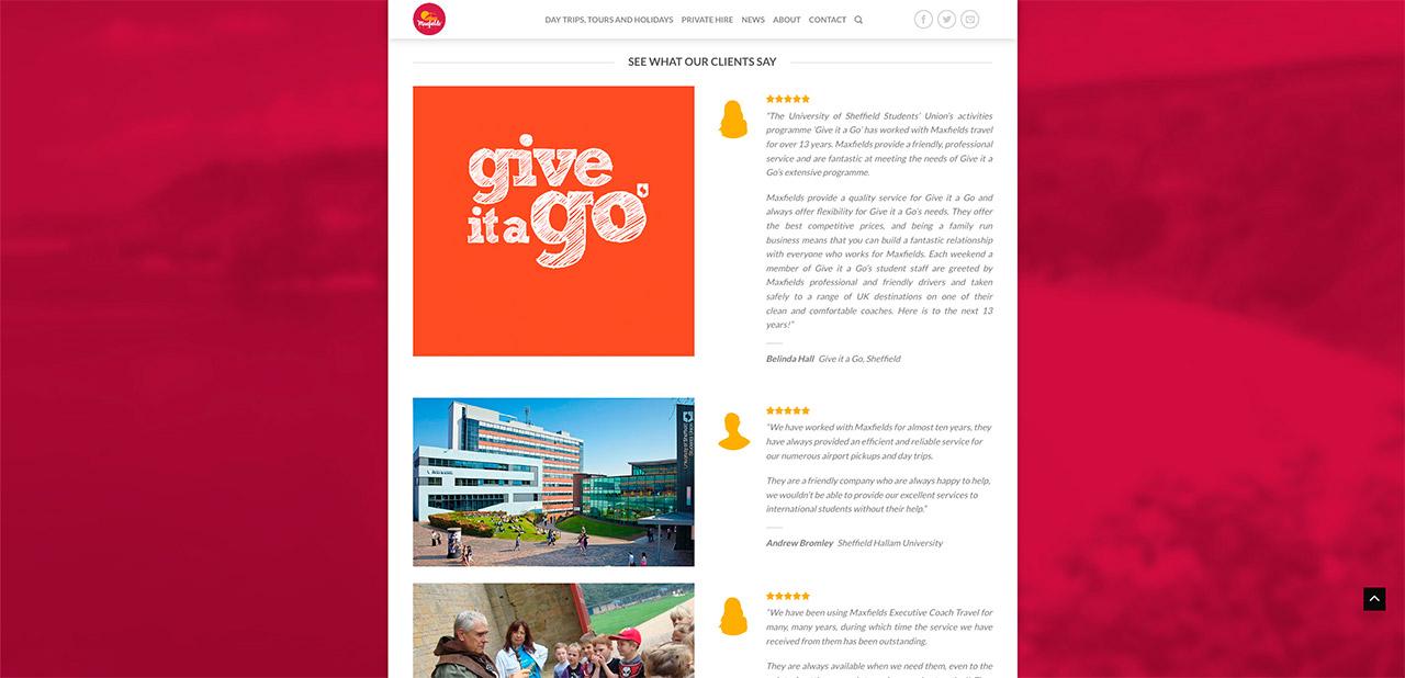 Maxfields Travel Website Design IDEA DESIGN AGENCY Website Designer 16
