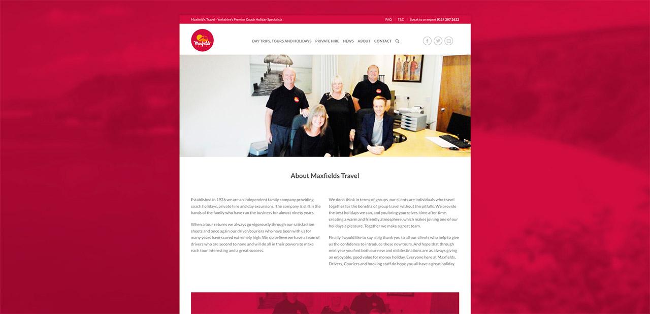 Maxfields Travel Website Design IDEA DESIGN AGENCY Website Designer 18