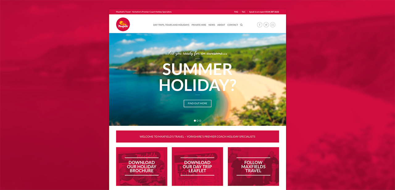 Maxfields Travel Website Design IDEA DESIGN AGENCY Website Designer 2