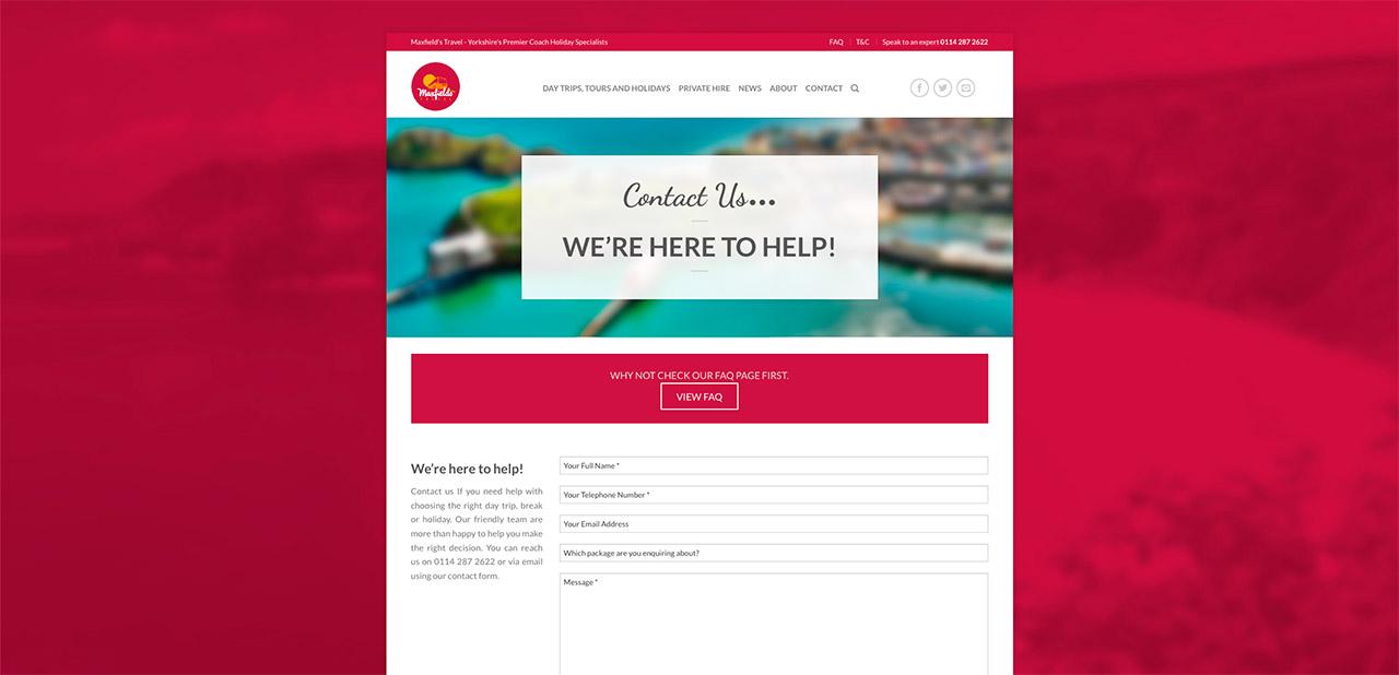 Maxfields Travel Website Design IDEA DESIGN AGENCY Website Designer 21