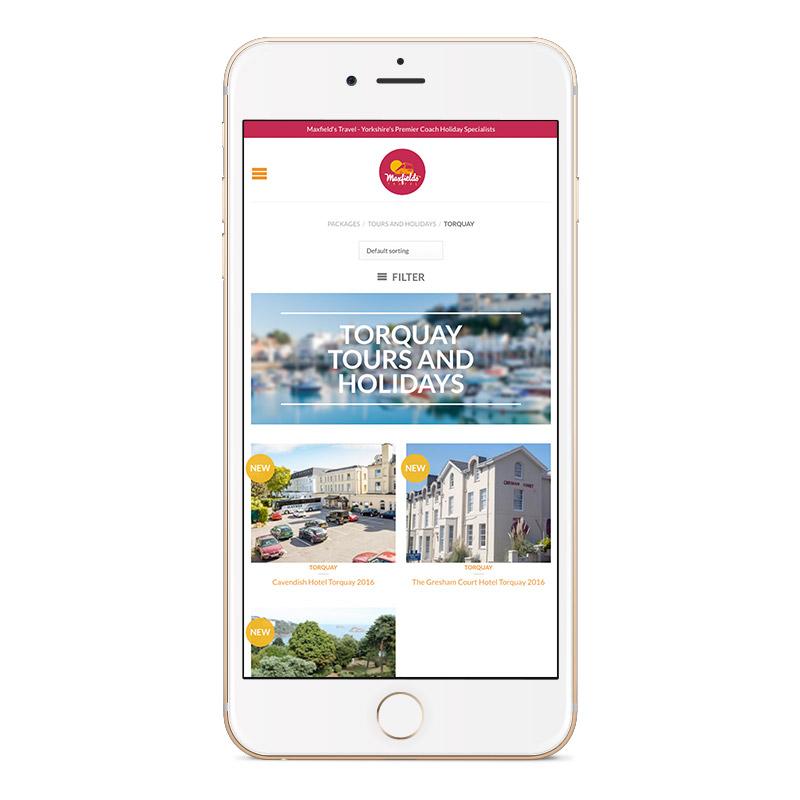 Maxfields Travel Website Design IDEA DESIGN AGENCY Website Designer 28