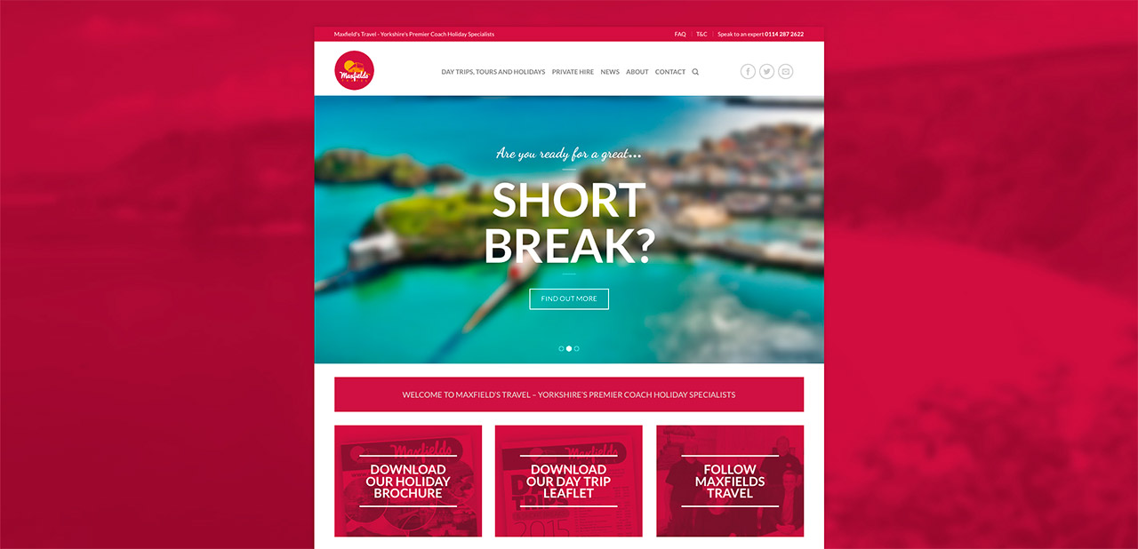 Maxfields Travel Website Design IDEA DESIGN AGENCY Website Designer 4