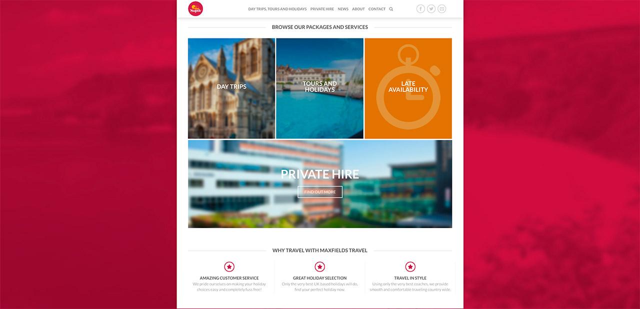 Maxfields Travel Website Design IDEA DESIGN AGENCY Website Designer 5