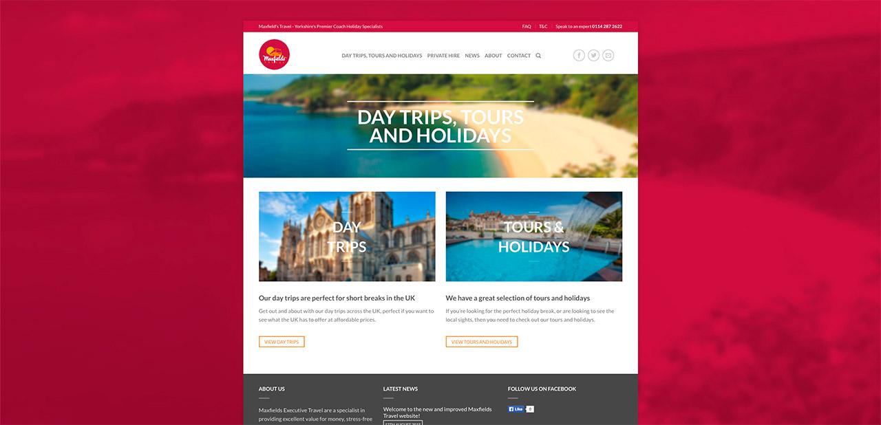 Maxfields Travel Website Design IDEA DESIGN AGENCY Website Designer 6