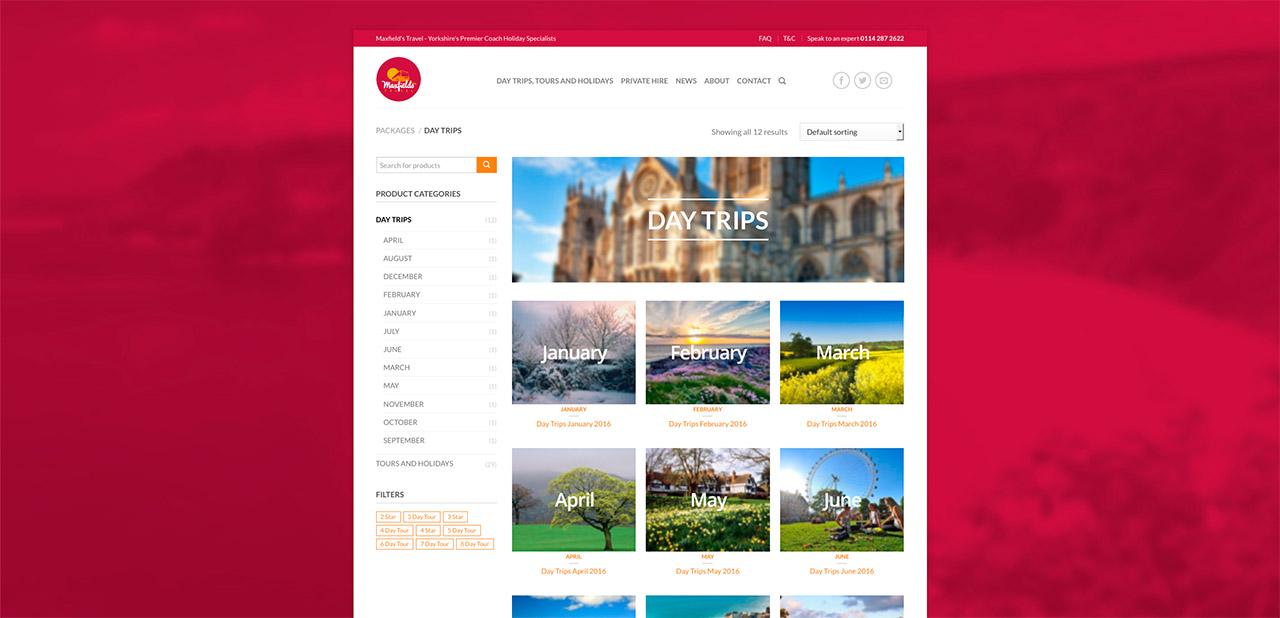 Maxfields Travel Website Design IDEA DESIGN AGENCY Website Designer 7