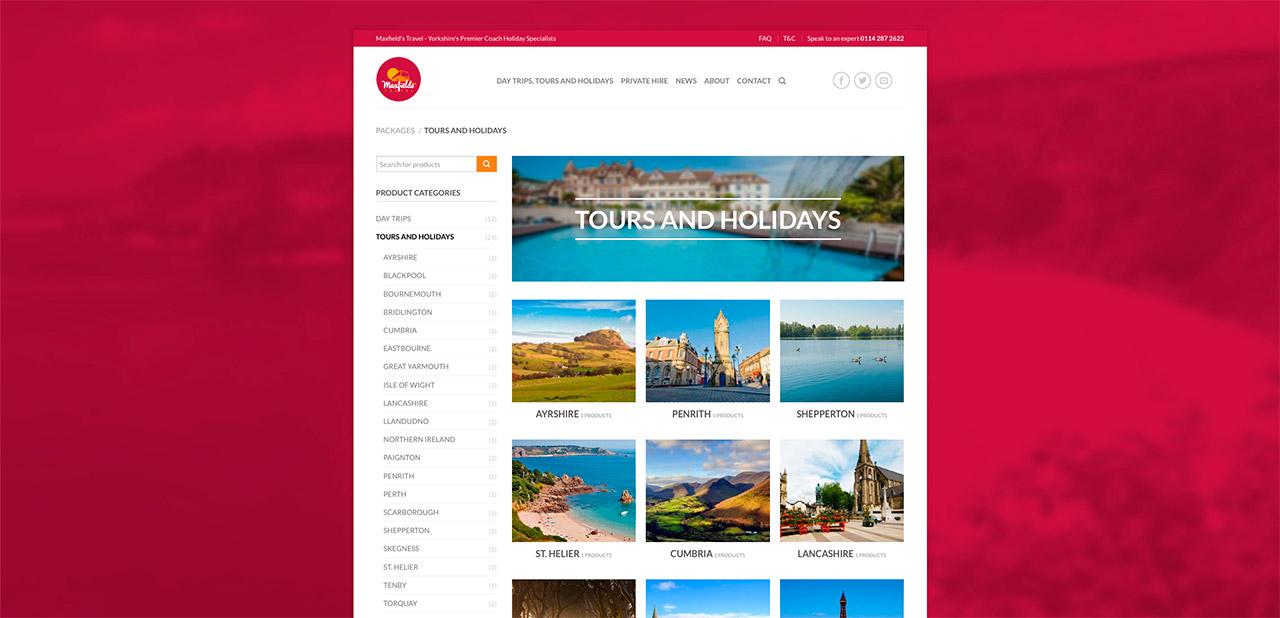 Maxfields Travel Website Design IDEA DESIGN AGENCY Website Designer 9