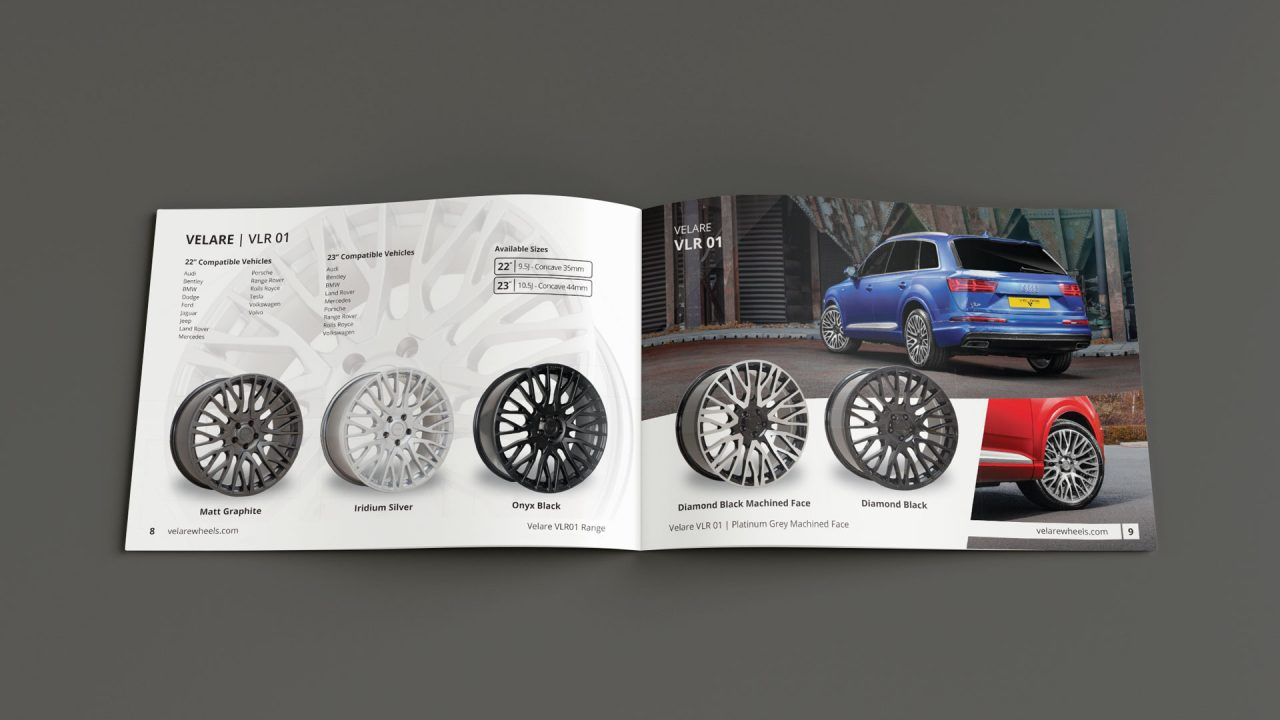Product Photographer Sheffield velare brochure 4