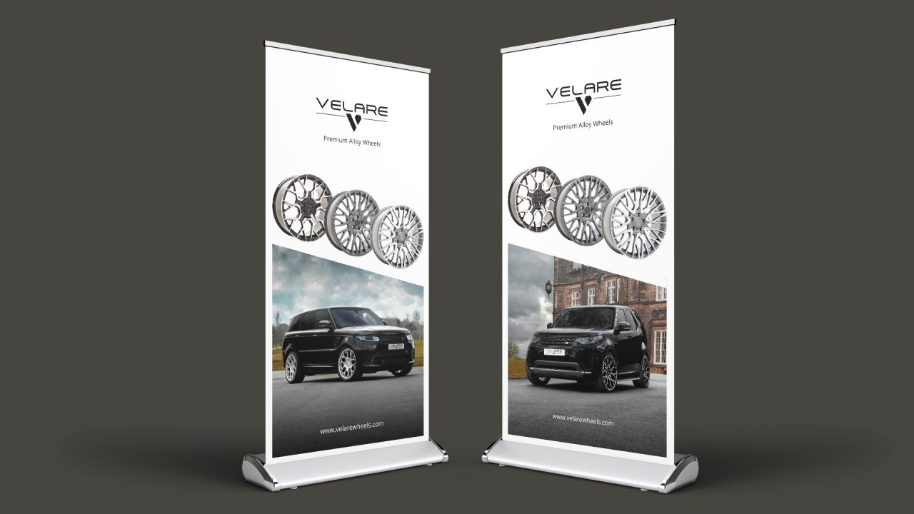 Product Photographer Sheffield velare wheels roller banner