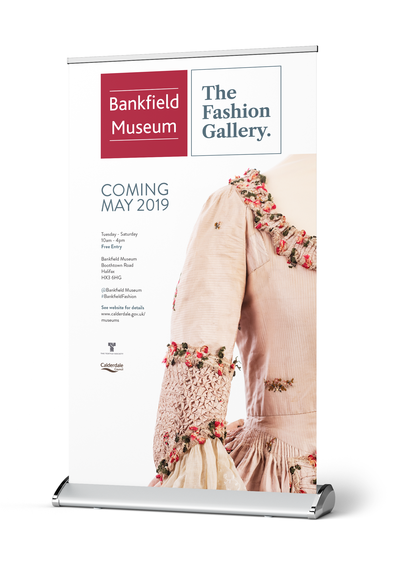 bankfield museum fashion gallery roller banner