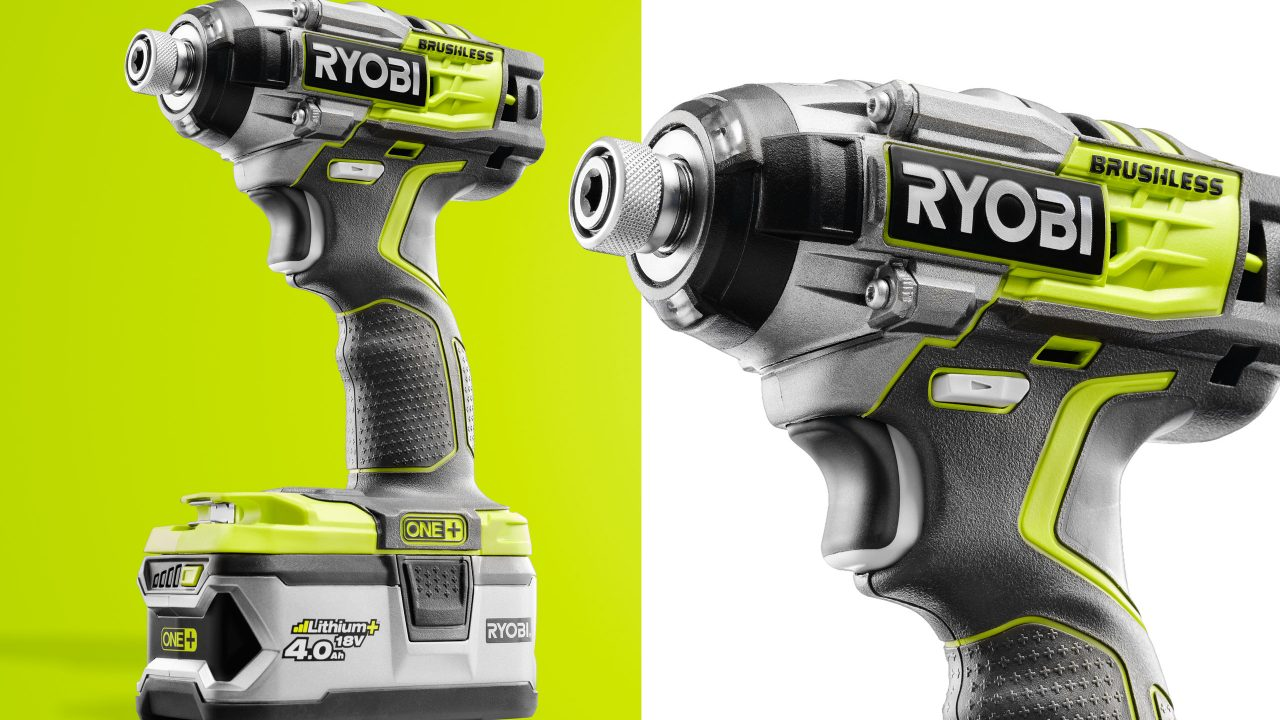 Ryobi Impact Driver Photography by Product Photographer wipdesigns sheffield 2