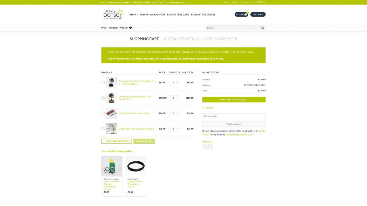 All Things Bonsai Website Designer IDEA DESIGN AGENCY 11