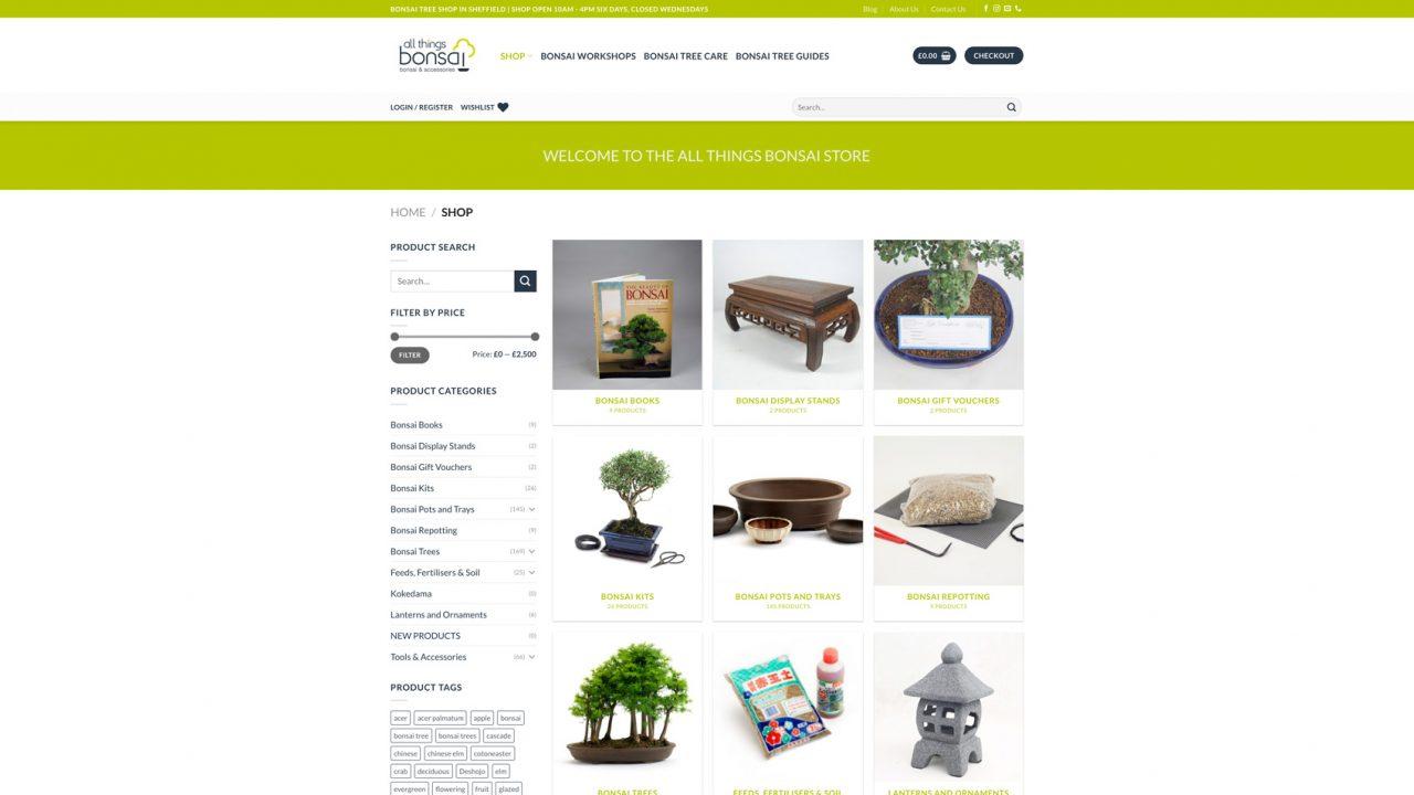 All Things Bonsai Website Designer IDEA DESIGN AGENCY 5