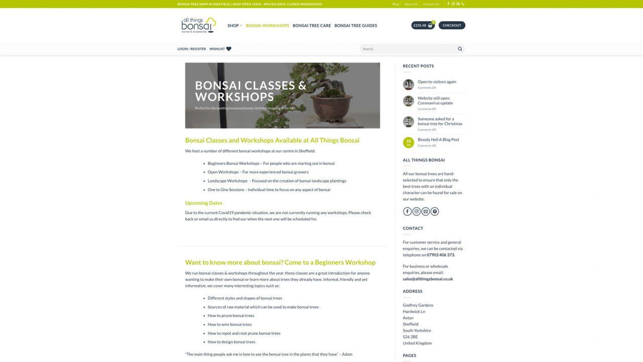 All Things Bonsai Website Designer IDEA DESIGN AGENCY 7