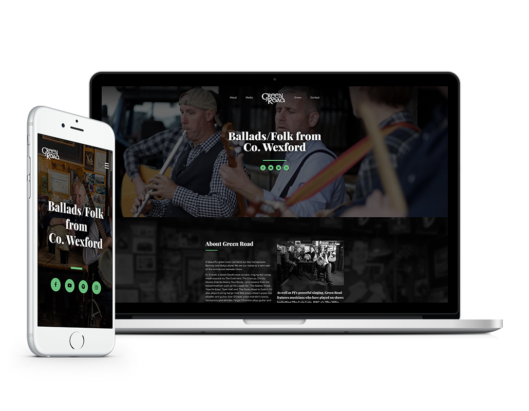 greenroad music homepage website designer idea design sheffield 6