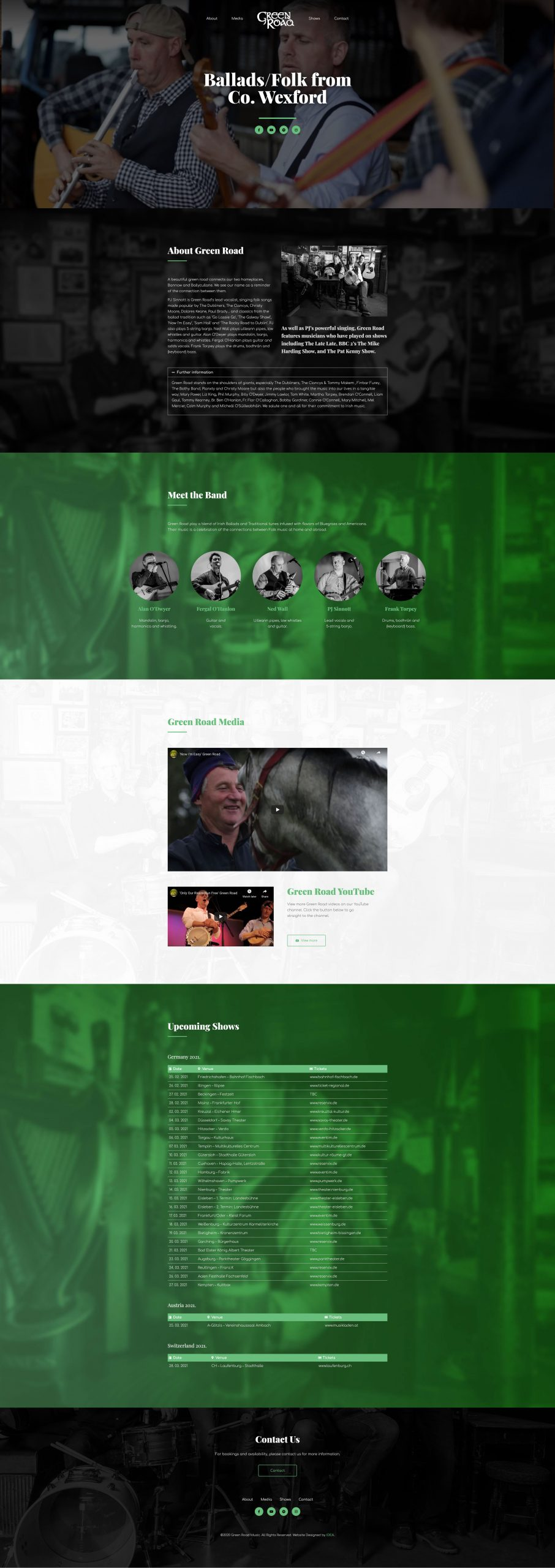 greenroad music homepage website designer idea design sheffield 8
