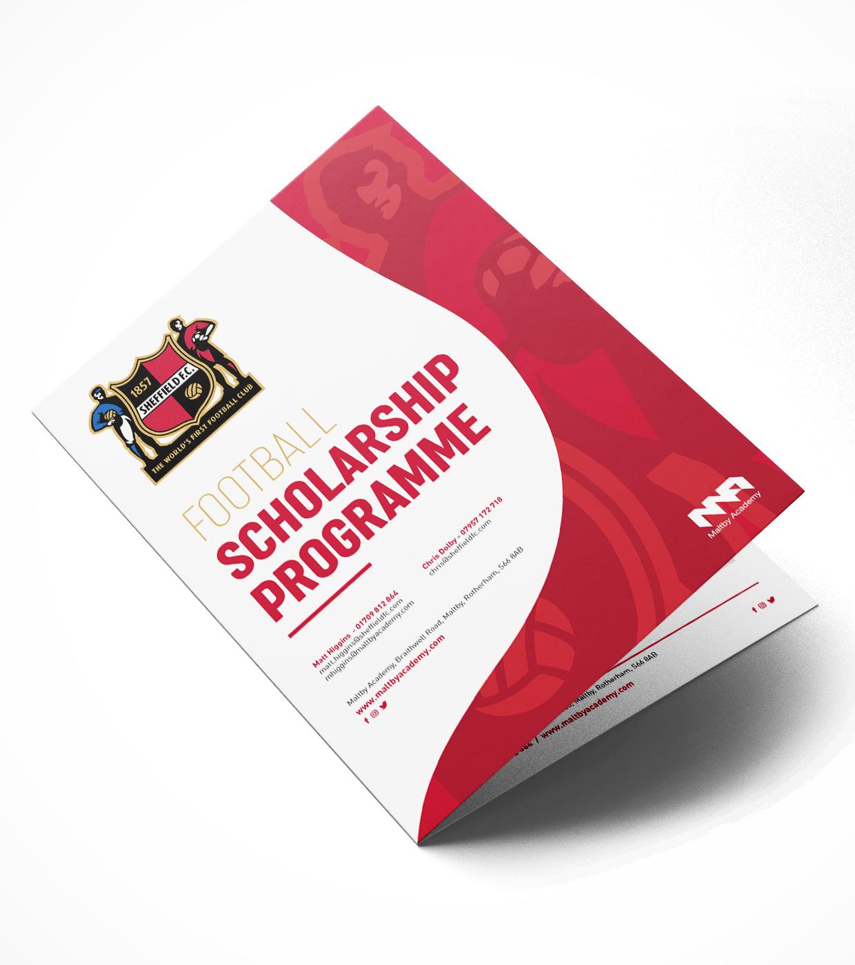 Idea Creative Design Studio Graphic Design Digital Design Website Design Photography Video Production South Yorkshire Manchester Maltby Academy Brochure Design