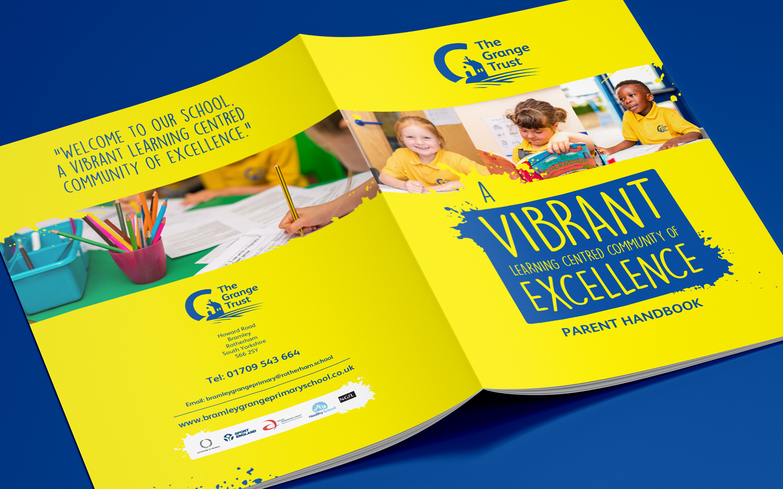 Idea Creative Design Studio Graphic Design Digital Design Website Design Photography Video Production South Yorkshire Rotherham Sheffield Manchester The Grange Trust Parent Handbook Print