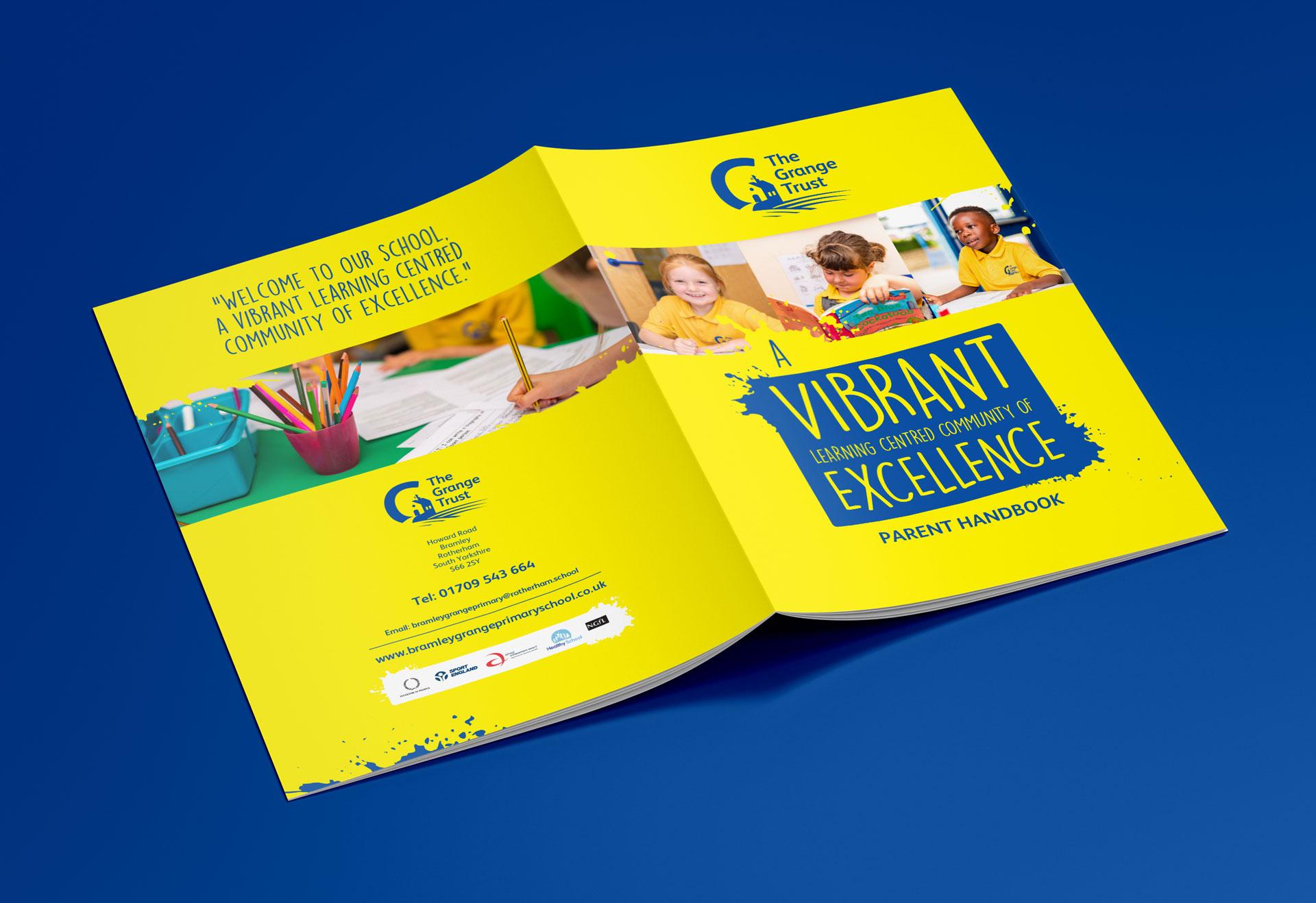 Idea Creative Design Studio Graphic Design Digital Design Website Design Photography Video Production South Yorkshire Rotherham Sheffield Manchester The Grange Trust Parent Handbook