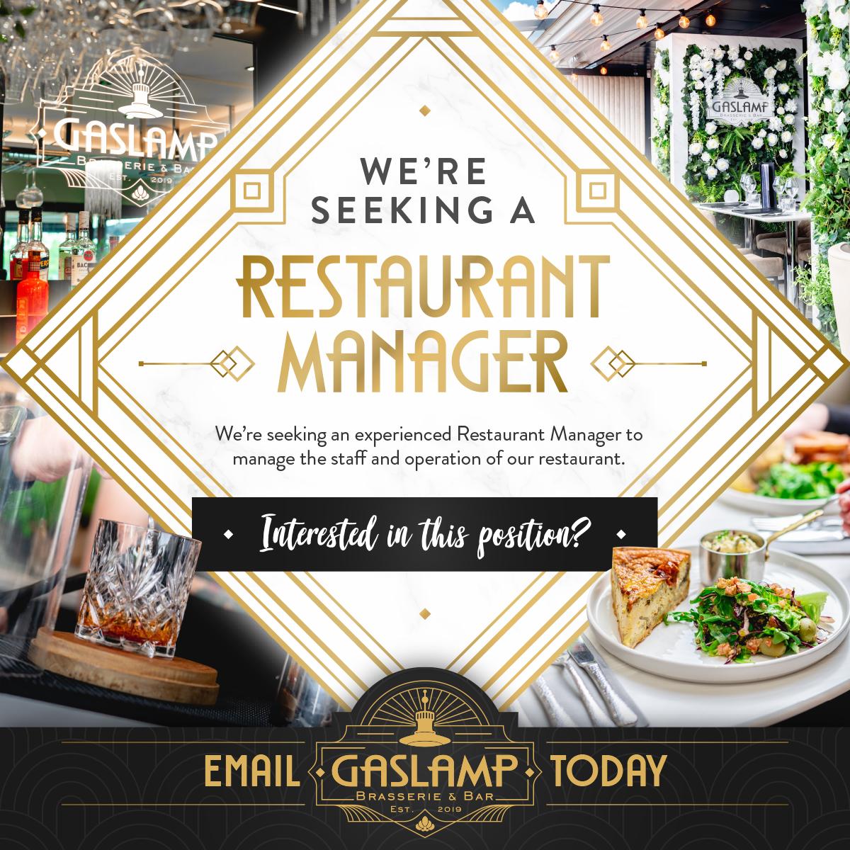 594 GL Restaurant Manager Position Social Media Post v2.1