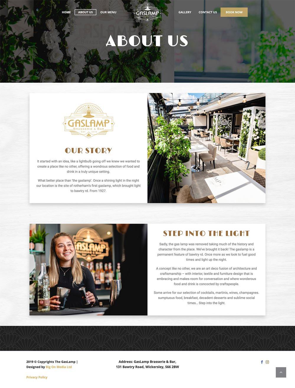 GasLamp Brasserie Bar Wickersley Idea Design Creative Design Studio Photography Rotherham Sheffield About After