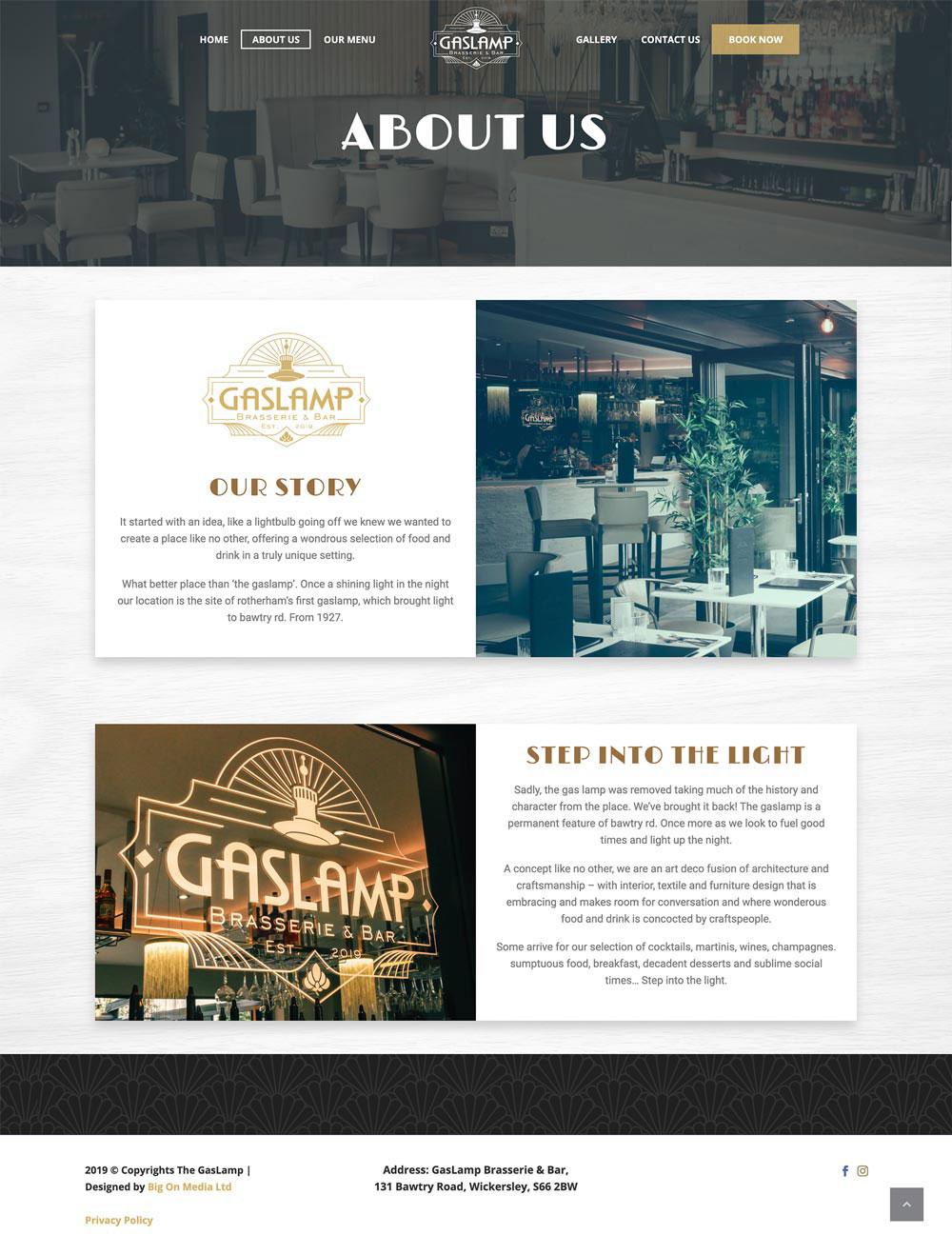 GasLamp Brasserie Bar Wickersley Idea Design Creative Design Studio Photography Rotherham Sheffield About Before